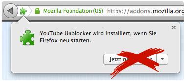 YouTube Unblocker AddOn - GEMA Sperre einfach mit Proxy umgehen