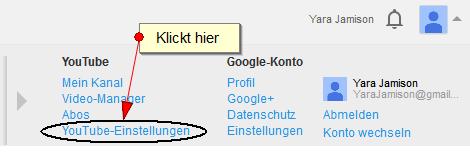 Youtube Namen ändern
